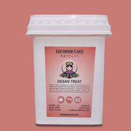 Oceantreat - Earthworm Flakes-100g by www.aquastore.in