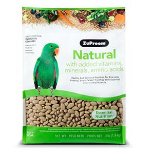 zupreem natural for parrots and conures -1.3 kg