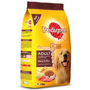 Pedigree Adult Meat and Rice -1.2kg by www.aquastore.in